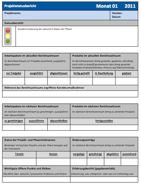 Beispiel Projektstatusbericht