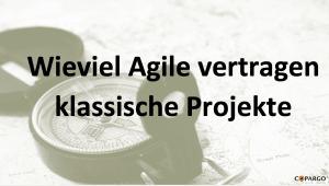 wieviel Agile vertragen klassische Projekte?